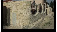 Kamienne ogrodzenie
